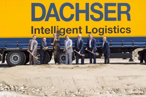 ground-breaking ceremony at Dachser in Stans