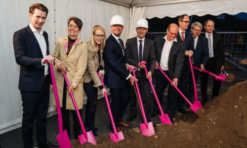 ground-breaking ceremony at Infineon