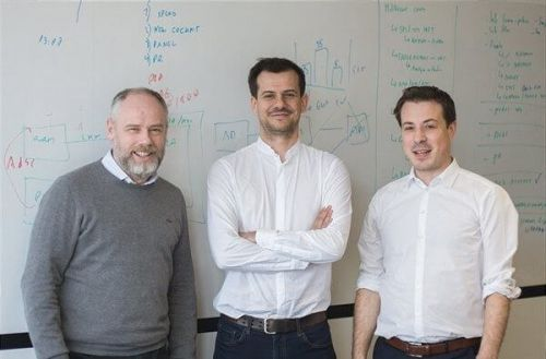 CTO Baljak, CEO Curkovic and co-founder Curkovic