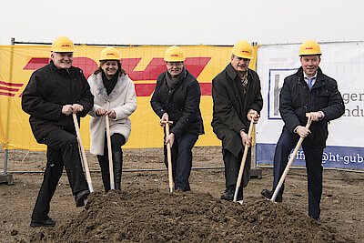 ground breaking ceremnony at DHL