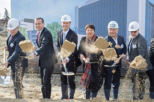ground-breaking ceremony at Boehringer
