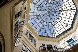 glass dome in a building