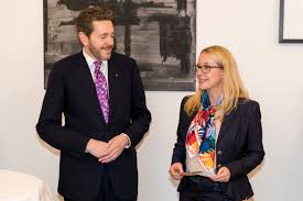 Harald Mahrer, President of the Austrian Federal Economic Chamber, with Minister for Digital and Economic Affairs Margarete Schramböck